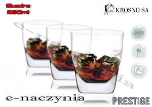 Szklanki do whisky 260ml QUADRA Prestige